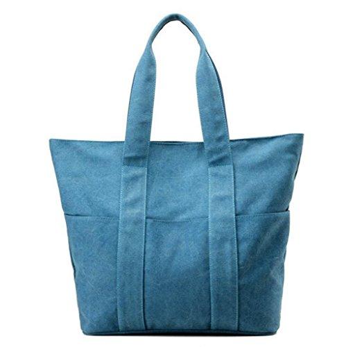 Sucastle sacchetti di svago sacchetto di modo del sacchetto di spalla di tela retro borsa bag Sucastle Colore:blu Dimensione:40x38x13cm