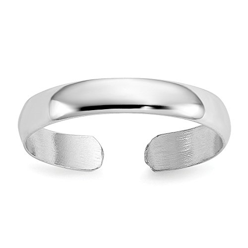 High Polished Toe Ring in 14 Karat White Gold ()