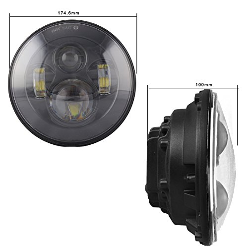 Jeep Wrangler 7 Inch CREE LED Round Projection Headlights TJ CJ JK LJ