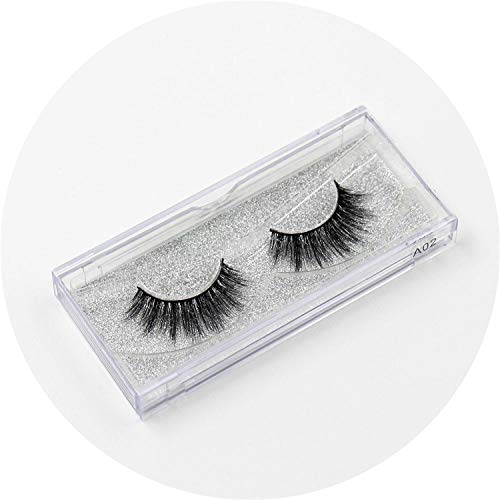 Mink Lashes 3D False Eyelashes Natural Makeup Mink Eyelash Extension Make Up Real Siberian Mink Full Strip Eyelashe,A02