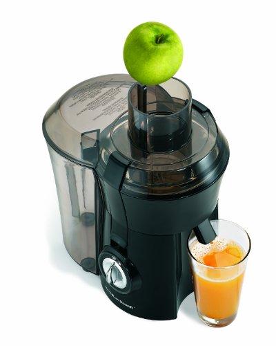 Hamilton Beach 67601 Big Mouth Juice Extractor, Black (Small Fruit Juicer)
