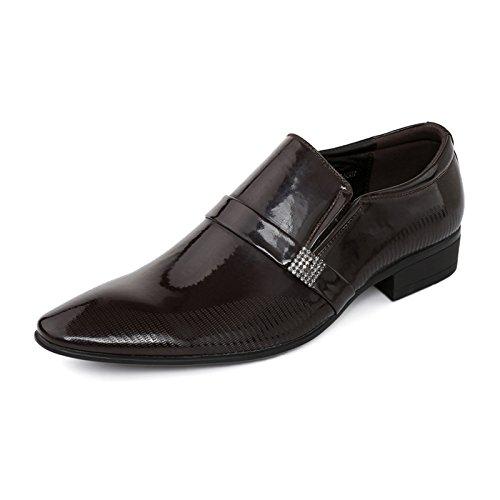 WZG zapatos casuales de los hombres de negocios de moda zapatos de gran tamaño señaló los zapatos de boda zapatos de matrimonio Brown