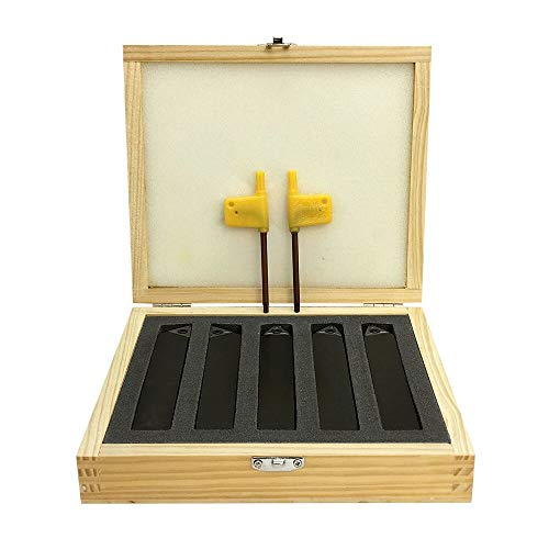 (MH GLOBAL Set of 5 Pieces 3/4 Inch Indexable Carbide Insert Turning Tool Bit Set)