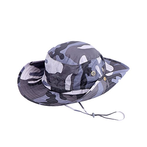 7dc28e7731c Anyoo Outdoor Boonie Hat Breathable Wide Brim Summer Sun Cap UV ...