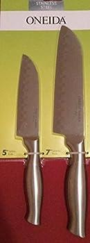 Oneida Stainless Steel 5 inch Santoku Knife and 7 inch Santoku Knife Set