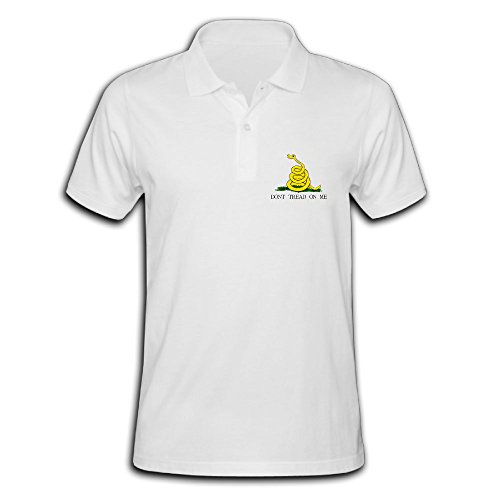 Man's Don't Tread On Me Classic Polo Collared Shirt