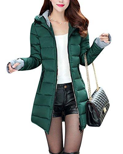 Coat Packable Outwear Green Long Dark Hooded Coats Jacket Ultralight Down Warm Women's wOE1Xq