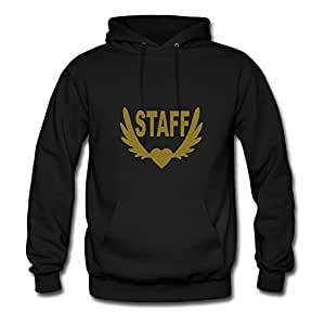 Staff_winged_heart Painting Customized : X-large Womenhoodies Black- Made In Good Quality.