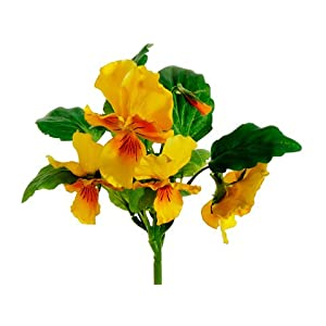 "11"" Pansy Bush Yellow (pack of 12) 69"