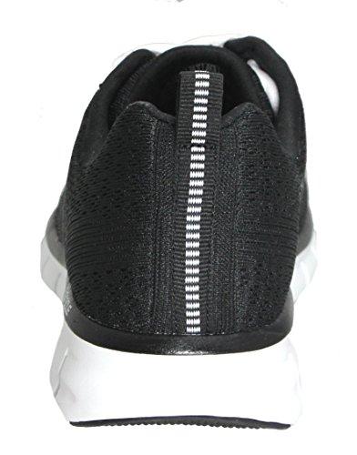 Skechers Le Sport Des Femmes De Chaussure De Mode De Synergie Élite Mesh Noir / Blanc