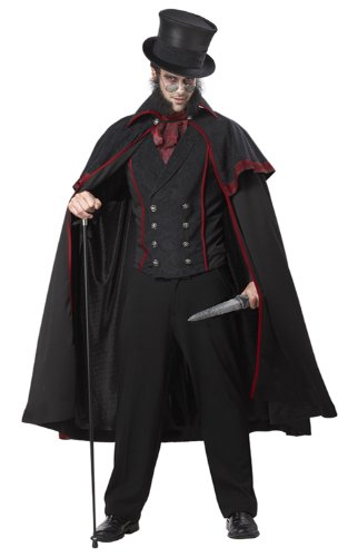 California Costumes Jack The Ripper Set, Black/Red, Medium (Mens Costumes)