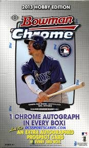 2013 Bowman Chrome Baseball box (18 pk - Hobby Baseball Cards Chrome Bowman