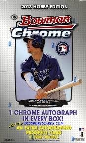 2013 Bowman Chrome Baseball box (18 pk - Cards Chrome Baseball Bowman Hobby