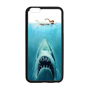 Tt-shop Custom Phone Case Cover Cool Sea Monster Big Teeth Jaw Shark Girl Floats For Iphone 6 Plus 5.5