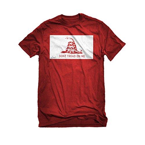Womens Don't Tread on Me T-Shirt Red Medium