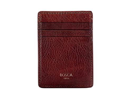 Bosca Men's Deluxe Front Pocket Leather Wallet In Dark Brown