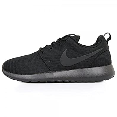 iieoe Nike Mens Roshe Run Triple Black Mesh Trainer Size 8 UK: Amazon.co