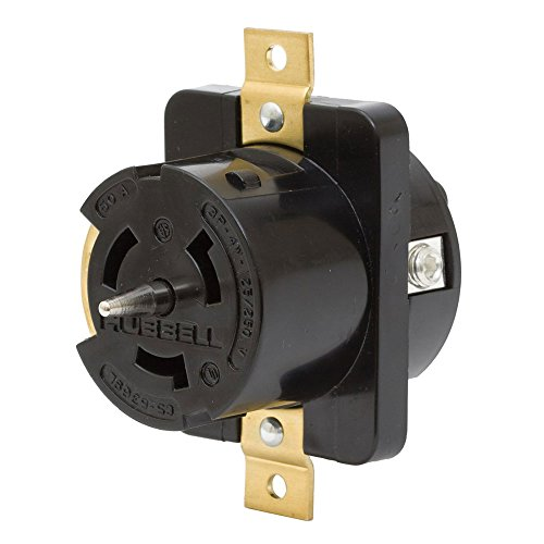 - Hubbell CS6369L Locking Receptacle, 50 amp, 125/250V, 3 Pole and 4 Wire, LC