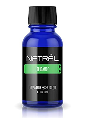 NATRÄL Bergamot, 100% Pure and Natural Essential Oil, Large 1 Ounce Bottle