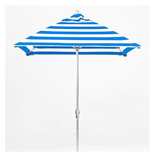 Square Fiberglass Market Umbrella - 6.5 ft. Square Commercial Grade Fiberglass Market Umbrella with Acrylic Fabric, Aluminum Pole, Crank Auto Tilt