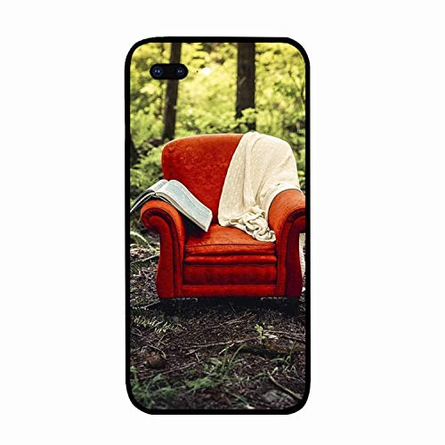 (iPhone 7/8 Plus Case Forest Chair Red Leaves Printed Hard PC Durable Rubber Protective Case Cover Compatible for iPhone 8 Plus/iPhone 7 Plus 5.5 inch)