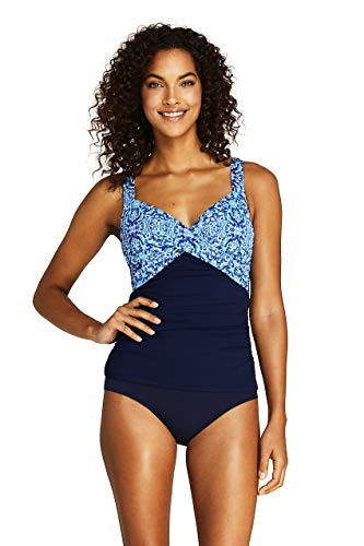 Lands' End Women's Wrap Underwire Tankini Top Swimsuit - Bras Lands Womens End
