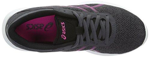 Asics Nitrofuze, Gymnastique Femme Grigio (Dark Steel/Pink Glow/Black)
