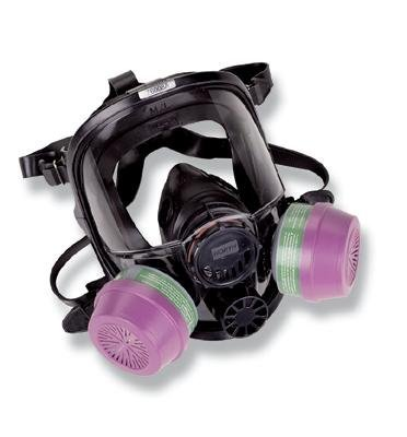 7600 Series Silicone Full Facepiece with Welding Attachment, 5 Strap Head Harness & Dual Cartridge Connectors, Size Small (Dual Respirator Series Cartridge)