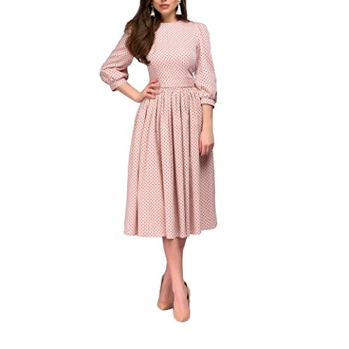 ZIMOXUAN Women's Casual 3/4 Sleeves Polka Dot Party (Polka Dot Cocktail Dresses)