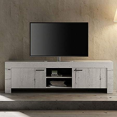 Mueble TV contemporáneo Color Roble Blanqueado galería 2: Amazon.es: Hogar