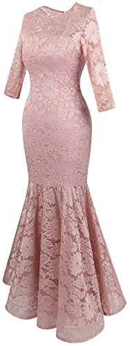 Mujer Cordon Floral Claro Noche De Sirena Vestido Rosa fashions Angel xH1qg5w67
