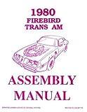 1980 Pontiac Firebird Assembly Manual Turbo Trans Am Formula Esprit