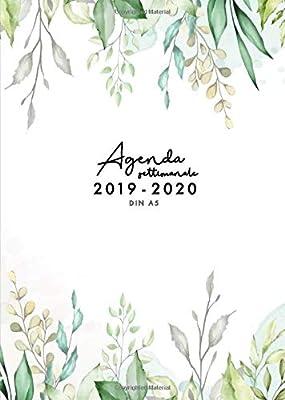 Agenda settimanale 2019 2020 A5: Agenda giornaliera da metà ...