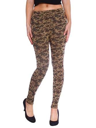 Simplicity Women's Camo Army Design Comfortable Seamless Stretch Pants Leggings