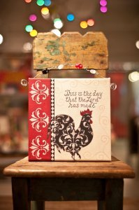 - This is The Day Rooster Beaded Canvas Art