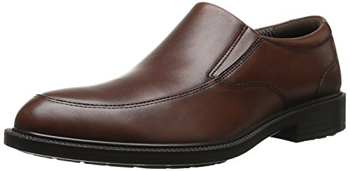 Hush Puppies Mens Irving Banker Slip-On Loafer, Dark Brown Leather, 40 D(M) EU/6 D(M) UK