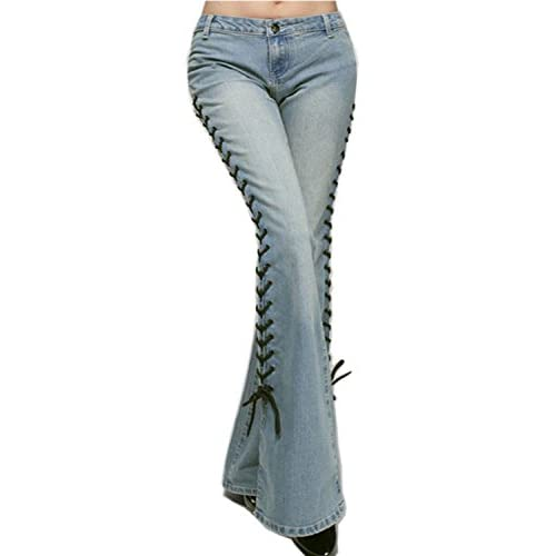 a9cb1f4ad0d Cresay Women's Mid-Rise Bell-bottom Wide Leg Flare Jeans 60%OFF ...