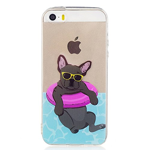 "Price comparison product image Beryerbi iPhone 5 5S SE Case Shock Absorption TPU Soft Silicone Rubber Cover Apple 5 5S SE- 4"" (1, iPhone 5 5S SE)"