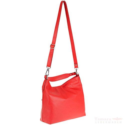 abro+ Adria 027811-37 Damen Leder Handtasche 34x30x14cm red