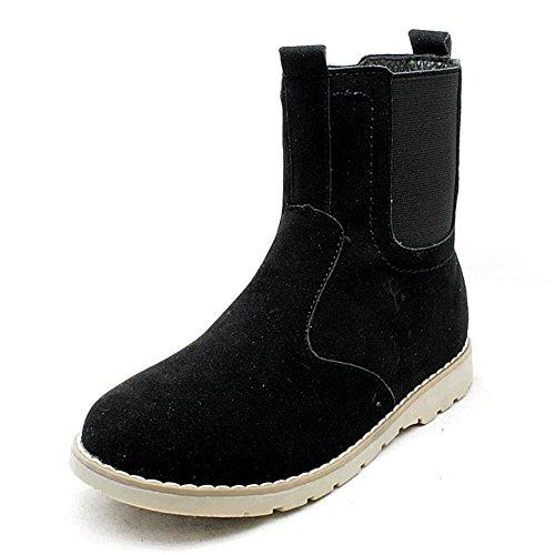 SendIt4me Older Boys Suedette Zwickelseite Chelsea Boots Black