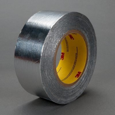 3M 1430 Aluminum Tape - 1/2 in Width x 5.5 mil Total Thickness - Flame Retardant - 95507 [PRICE is per CASE]
