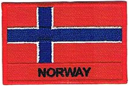 Aufnäher patches gedruckt Flaggen flagge fahne N norwegen
