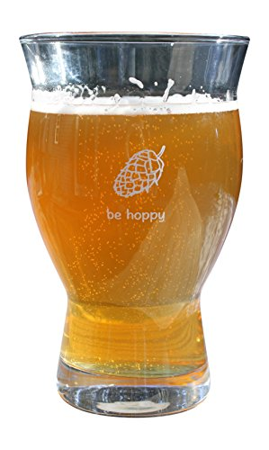Ultimate Pint - Perfect Pint Glass to Explode Flavors and Maximize Beer Enjoyment - Exclusive Nucleated Grid
