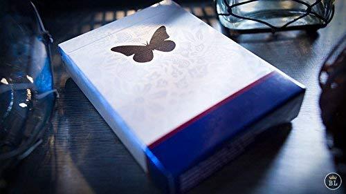 Butterfly Playing Cards Marked Blue by Ondrej Psenicka