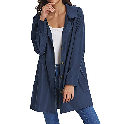 Beyove Women's Casual Long Sleeve Contrast Color Hooded Coat Softshell Jacket (Rain For Women Slickers)