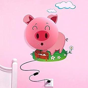 Alrens DIYTMNovelty Cartoon Smile Pink Pig DIY 3D Wallpaper Wall Stickers Home Room