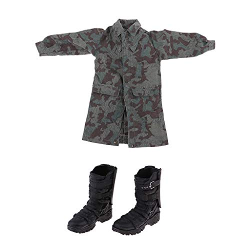 Fenteer 1:6 Scale Soldier Battlefield Boot & Camouflage for 12