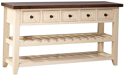 (Hillsdale Tuscan Retreat 5 Drawer Sideboard with Wine Rack)