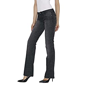 Blue Star Women's Boot Cut Midrise Jeans – Distressed Stretch