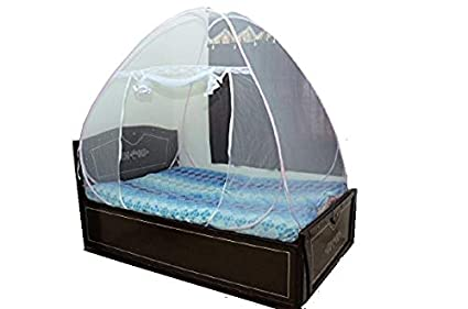 ASP Healthcare Double Bed Folding Mosquito Net 200X200X145cms_ Blue